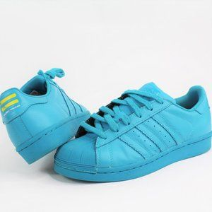 Adidas Superstar Supercolor Lab Green SZ 4.5 USED